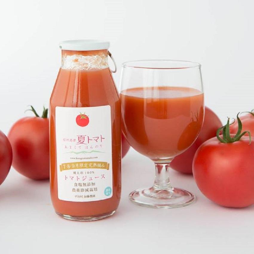 【ふるさと納税】トマト100% 信州高原夏トマトジュース(180ml×10本)1箱