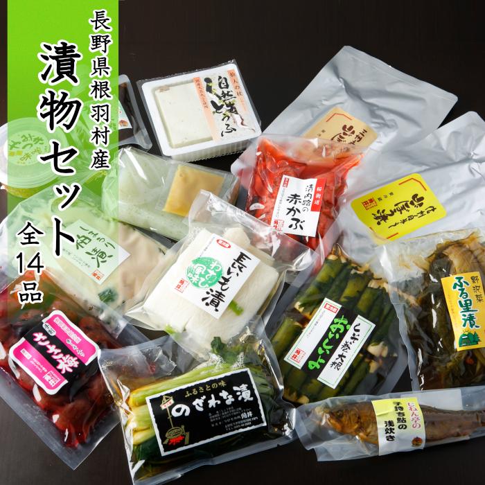 【ふるさと納税】長野県根羽村産 漬物セット 全14種類
