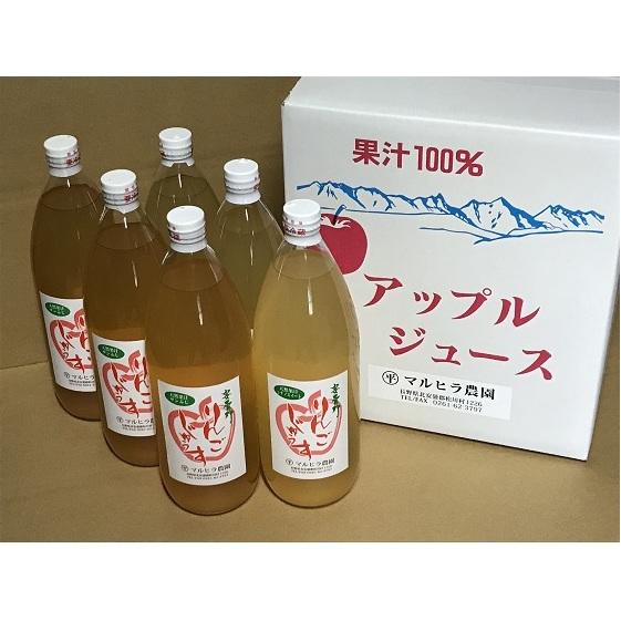 【ふるさと納税】リンゴジュース 1L×6本セット(シナノスイート・サンふじ) 【飲料類/果汁飲料/フルーツジュース】