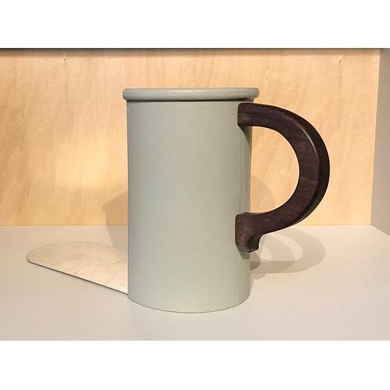 【ふるさと納税】木製ブックエンド(マグカップ)フレンチグレー 【雑貨・日用品/文房具】