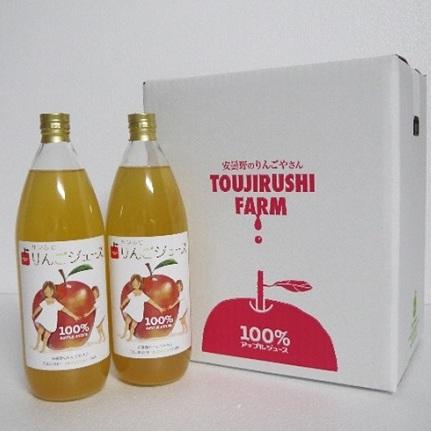 【ふるさと納税】100%りんごジュース 1000ml 12本 【飲料類・果汁飲料・りんご・ジュース】