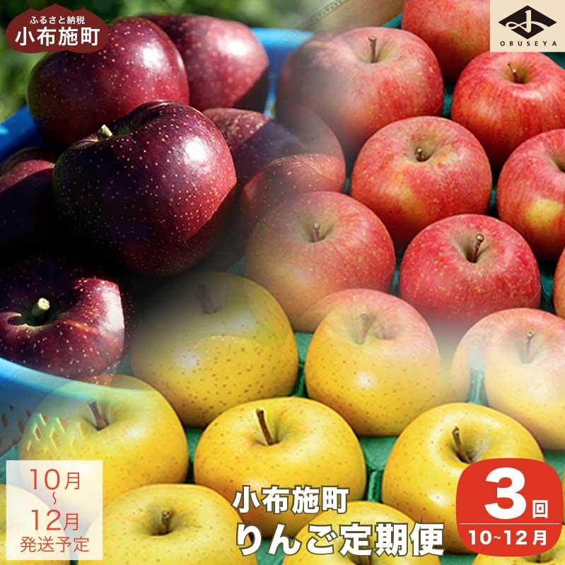 【ふるさと納税】3カ月頒布会 長野県りんごの味比べ(5kgずつ)