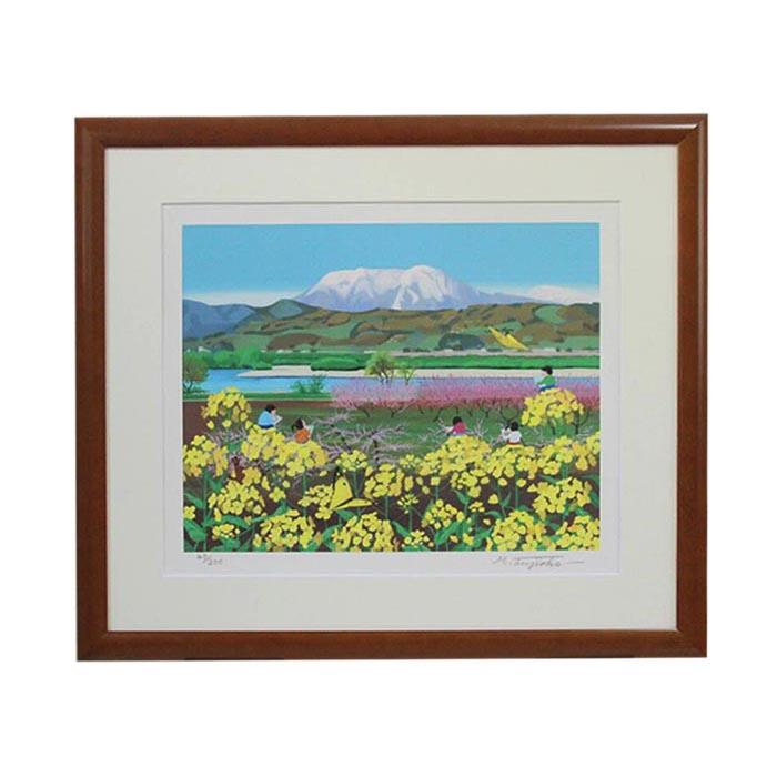 【ふるさと納税】藤岡牧夫 画家 「写生」F6原寸サイズ(53.5cm×62.5cm)