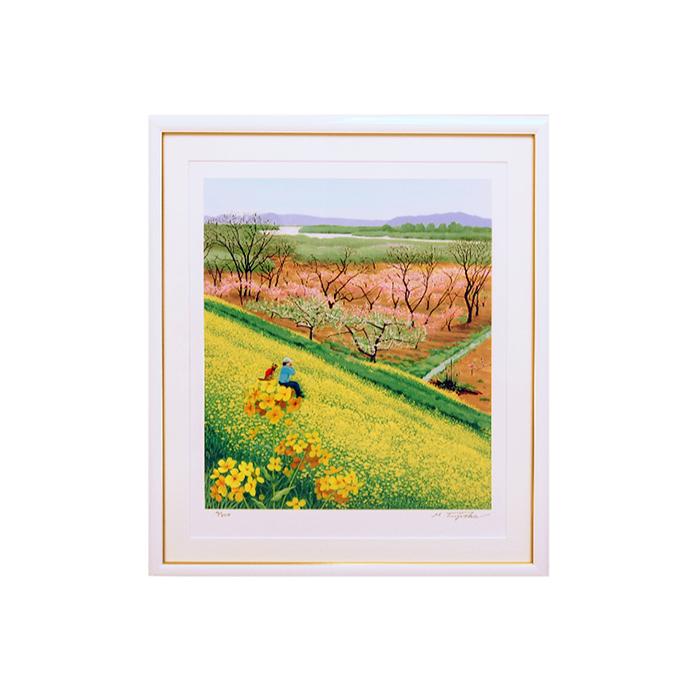 【ふるさと納税】藤岡牧夫 版画 「ハーモニカ」F10原寸サイズ(74.5cm×65cm)