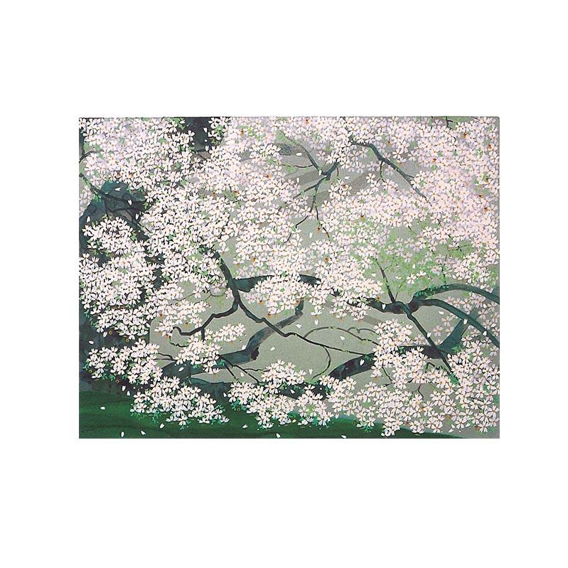 中島千波 豊富な品 シルクスクリーン ふるさと納税 一心行の桜 保証 2
