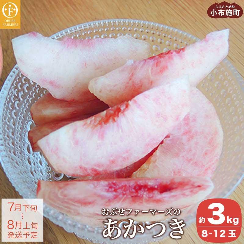 長野県小布施町 【ふるさと納税】おぶせファーマーズの「あかつき 約3kg」