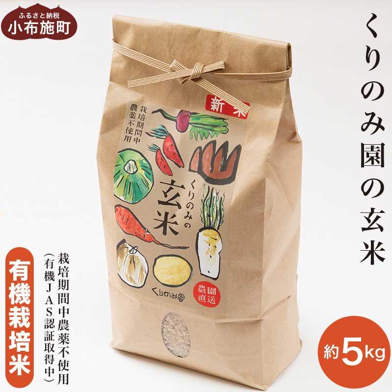 発売モデル 体に優しい有機栽培米 オーガニックのお米 5kg 信州 長野 オンライン限定商品 栽培期間中無農薬 くりのみ園の玄米 ふるさと納税