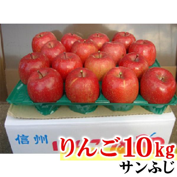【ふるさと納税】【先行予約】 長野県 信州のりんごエコファーマーの「ひと手間りんご」 サンふじ 10kg 【 りんご 林檎 リンゴ 果物 フルーツ 信州 長野 飯綱町 】 お届け:2020年12月上旬~