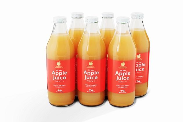 【ふるさと納税】リンゴジュース(紅玉ブレンド)1000ml 6本入り 【飲料類/果汁飲料/りんご】