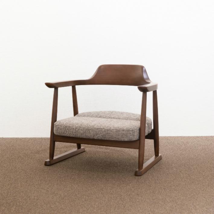 【ふるさと納税】【飛騨の家具】 飛騨産業 低座椅子ロータイプ(ダーク色) f156