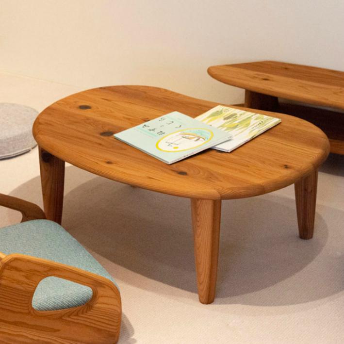 【ふるさと納税】【飛騨の家具】 飛騨産業 杉のフロア家具 フロアテーブル(豆型) g141
