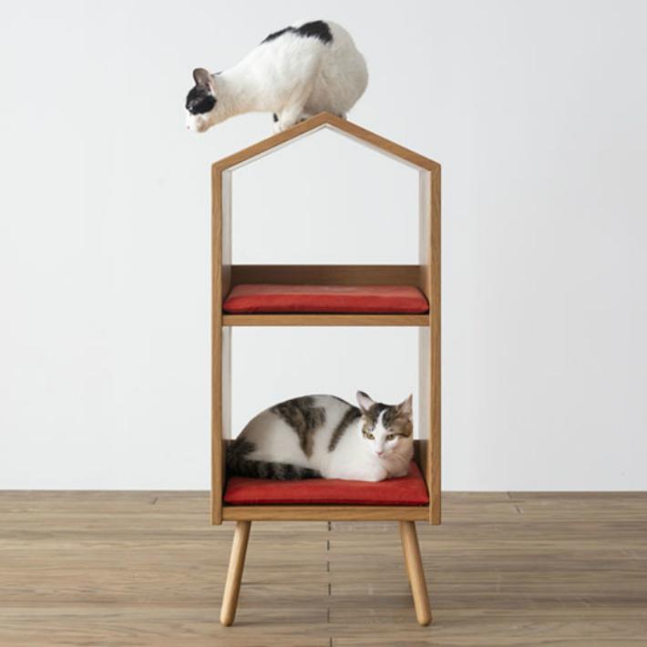 【ふるさと納税】【飛騨の家具】 飛騨産業 森のペット家具 ネコハウス g142