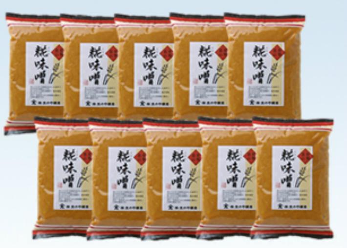 【ふるさと納税】大のや醸造 糀味噌 500g×10袋 b510