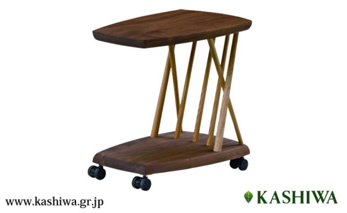 【ふるさと納税】【KASHIWA】CIVIL(シビル)プチテーブル キャスターテーブル 飛騨の家具 f103