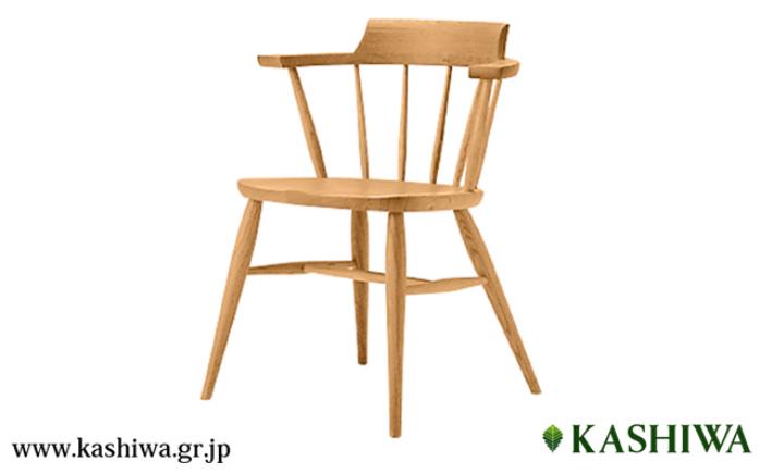 【ふるさと納税】【KASHIWA】K-WINDSOR(K-ウィンザー)クラウンチェア 飛騨の家具 f104
