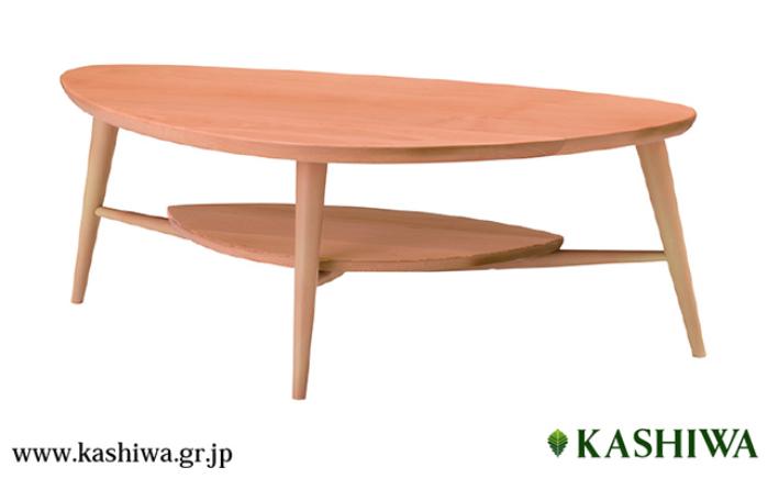 【ふるさと納税】【KASHIWA】LEI(レイ)リビングテーブル 飛騨の家具 g107