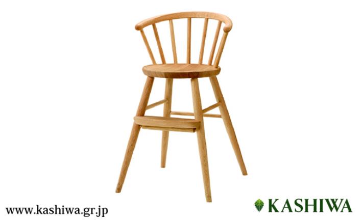 【ふるさと納税】【KASHIWA】木製ベビーチェア 飛騨の家具 オーク材 無垢材 f106