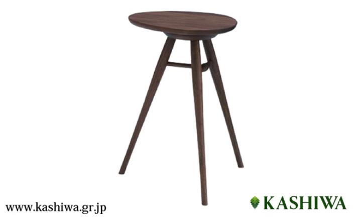 【ふるさと納税】【KASHIWA】エッグテーブル サイドテーブル 飛騨の家具 ウォールナット材 f114
