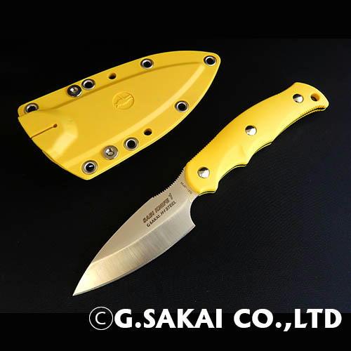 【ふるさと納税】H30-28 サビナイフ1 直刃 イエロー