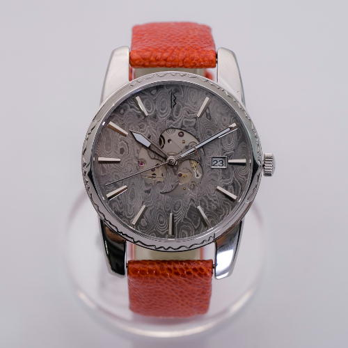 【ふるさと納税】MUSHA Damascus Watch SAMURAI 【orange】  D304-03