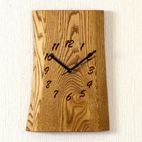 【ふるさと納税】栗 一枚板時計 JTK001-OBK  D29-01
