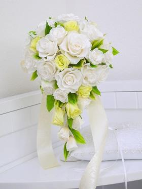 【ふるさと納税】Bridal Bouquet&Boot Nearness(ブライダルブーケ&ブートニア)<プリザーブドフラワー>