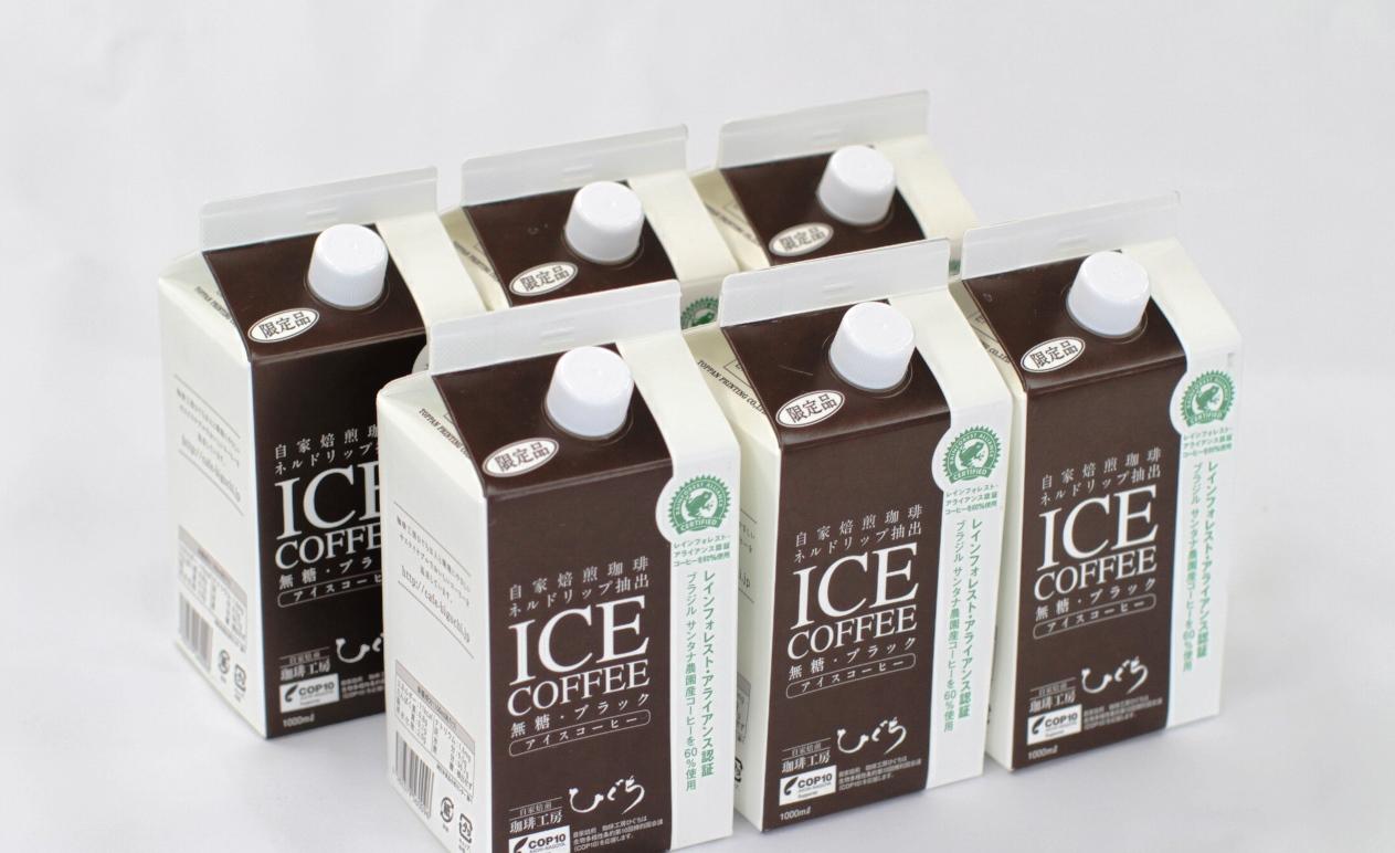 【ふるさと納税】ひぐちのアイスコーヒーネルドリップ抽出無糖1リットル6本, 辰野町:b2cb3980 --- vidaperpetua.com.br