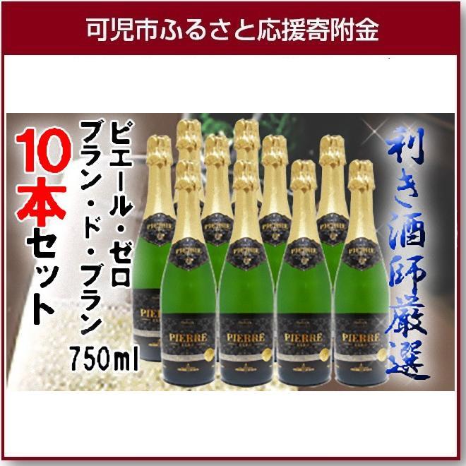 【ふるさと納税】岐阜のきき酒師が厳選したノンアルコールワインセット ピエール・ゼロ ブラン・ド・ブラン 750ml×10本