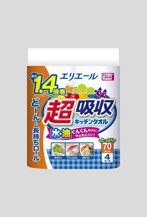 【ふるさと納税】エリエール超吸収キッチンタオル 4R70カット(4ロール×12パック)