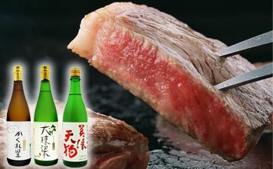 【ふるさと納税】3-1 厚切り!飛騨牛サーロインステーキ300g×3枚 + 厳選日本酒720ml×3本