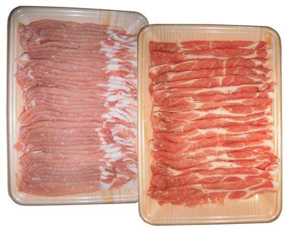 【ふるさと納税】No.008 飛騨旨豚しゃぶしゃぶセット計約600g / 豚肉 ロース 肩ロース プレミアムポーク 岐阜県 特産