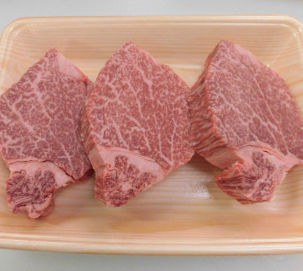 【ふるさと納税】No.098 飛騨牛ヒレステーキ用計約450g (5等級)/冷凍 / 牛肉 ブランド牛 岐阜県 特産