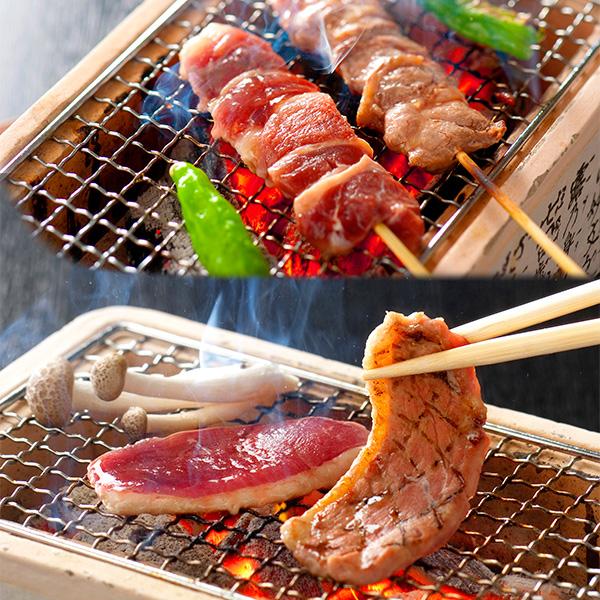 【ふるさと納税】No.151 4~6人前 一度食べたらやみつきに!鴨串・鴨ロースブロックセット / カモ肉 串焼き ロース肉 バルバリー種