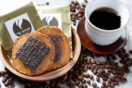 【ふるさと納税】珈琲ブレイクセット コーヒー入り味噌煎餅36枚とドリップコーヒー9袋のセット[B0019]