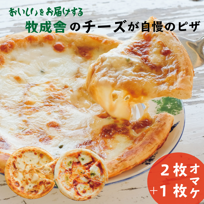 【ふるさと納税】<牧成舎>飛騨のチーズたっぷりピザセット(3枚)[B0002]