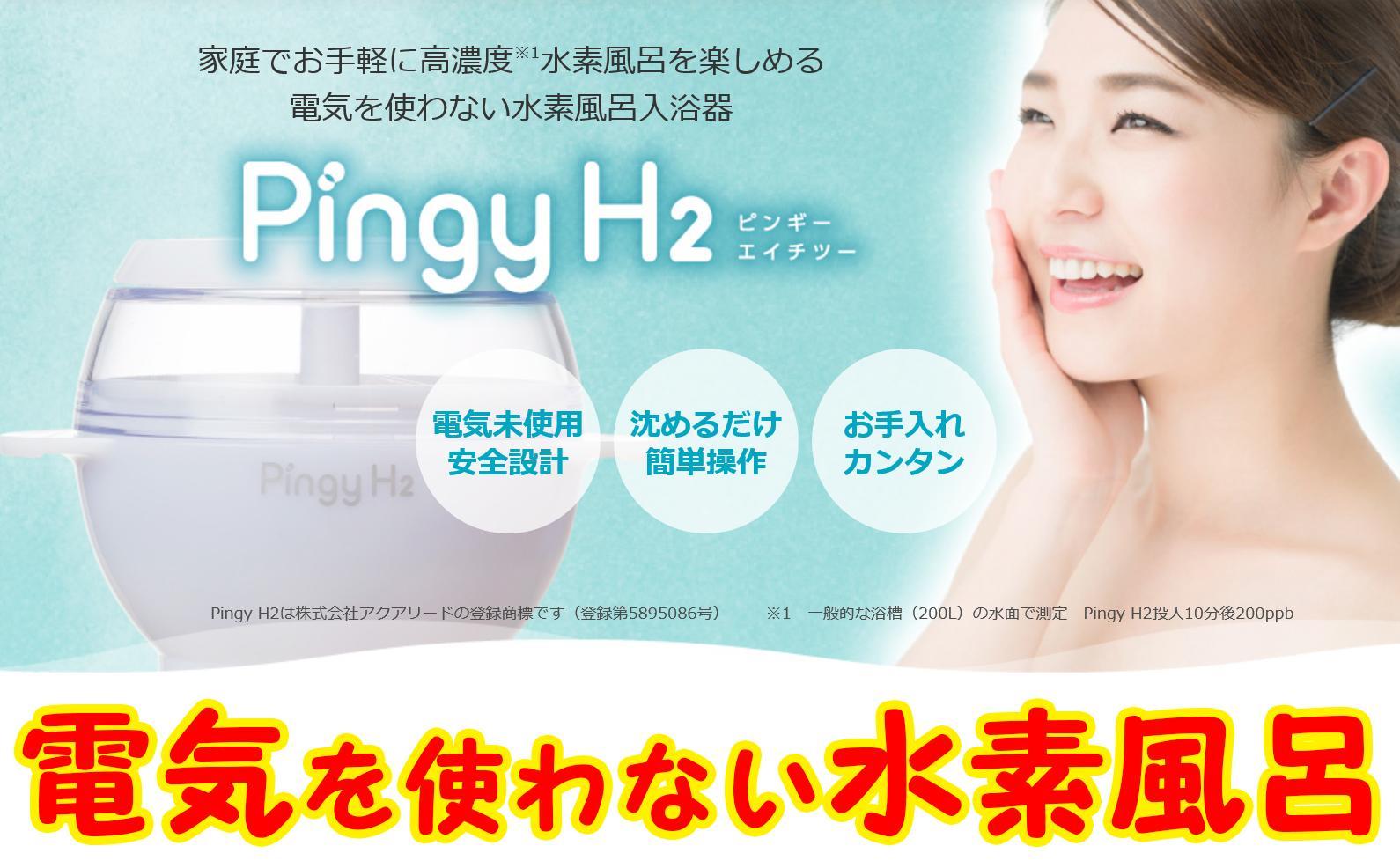 【ふるさと納税】家庭で気軽に!電気を使わない水素風呂入浴器 Pingy H2