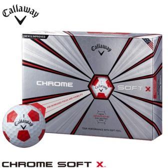 【ふるさと納税】ゴルフボールキャロウェイクロムソフトエックストゥルービス2018年モデル(ホワイト/レッド・3ダースセット36球)