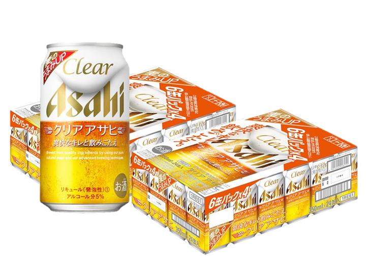 【ふるさと納税】アサヒ クリアアサヒ350ml 2箱(24缶入×2ケース)