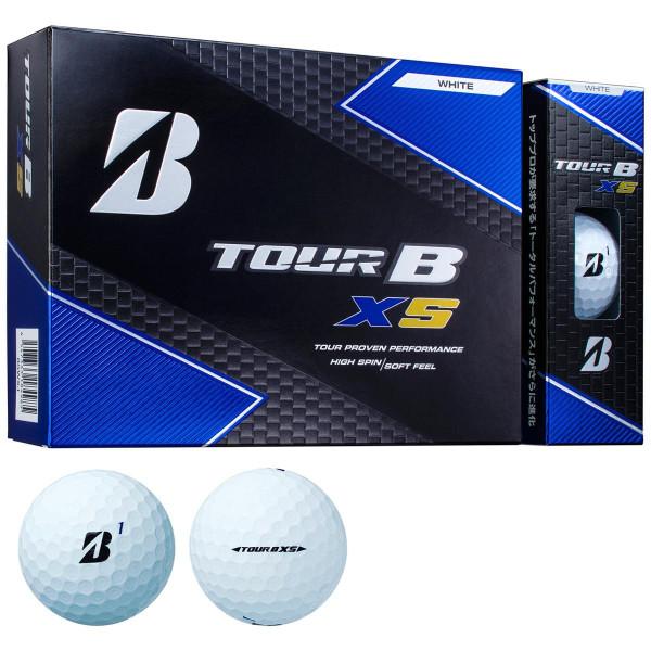 【ふるさと納税】ゴルフボール ブリジストン TOUR B XS Bマーク(ホワイト)3ダース36球セット
