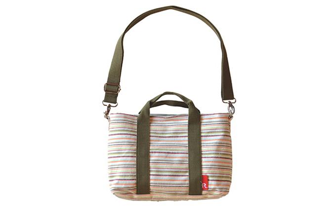 【ふるさと納税】【遠州綿紬&ROOTOTE】ROO-Carriage 雨水 【ファッション・カバン・バッグ】