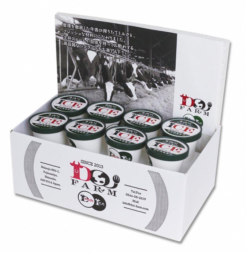 【ふるさと納税】土井ファーム 濃厚ミルクのジェラートBOX(8個入) 静岡県富士宮市