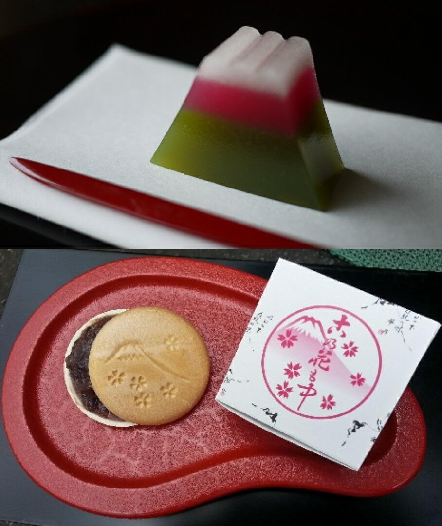 【ふるさと納税】和菓子 詰め合わせ 華月 和菓子セット1(富士山羊羹「抹茶」とお手造りもなか)静岡県富士宮市