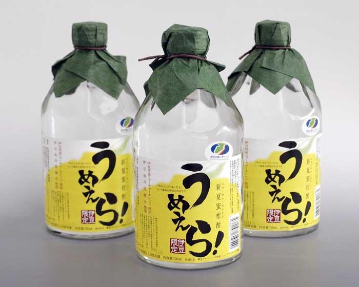新夏蜜柑(ニューサマーオレンジ)酎うめえら!3本セット【ふるさと納税】