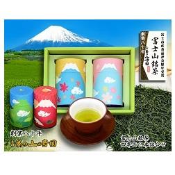【ふるさと納税】1024富士山銘茶(TM)四季缶2本詰合せ