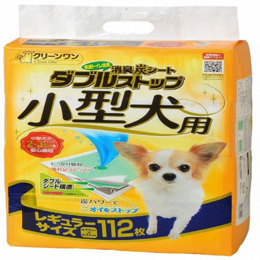 【ふるさと納税】1293クリーンワン消臭炭シートダブルストップ小型犬用レギュラー112P×4