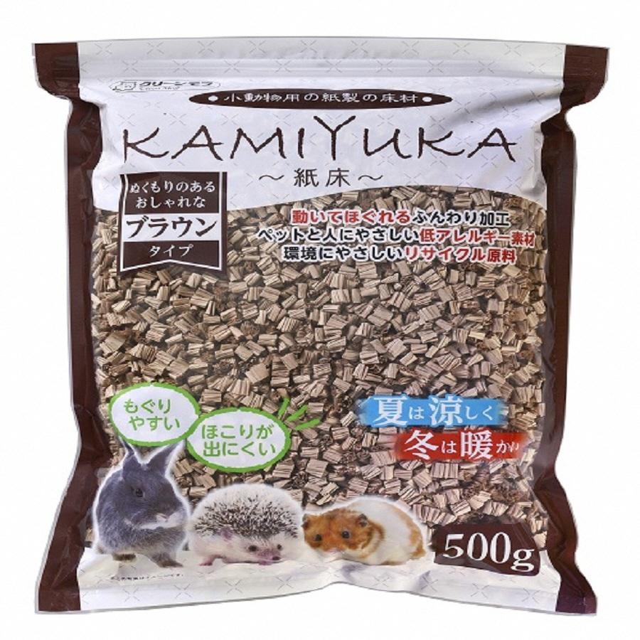 【ふるさと納税】1315クリーンモフ小動物用床材KAMIYUKAブラウン500g×18