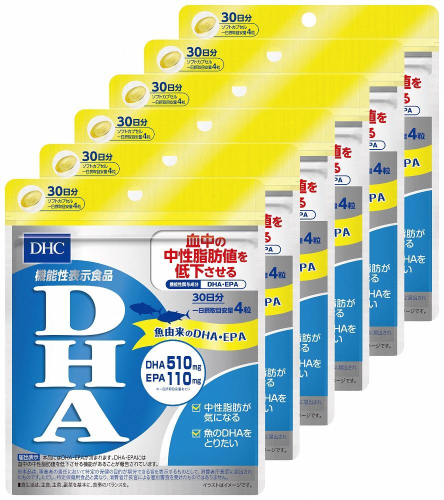 【ふるさと納税】DHC サプリメント 【機能性表示食品】DHA 30日分 6ヶ月分セット