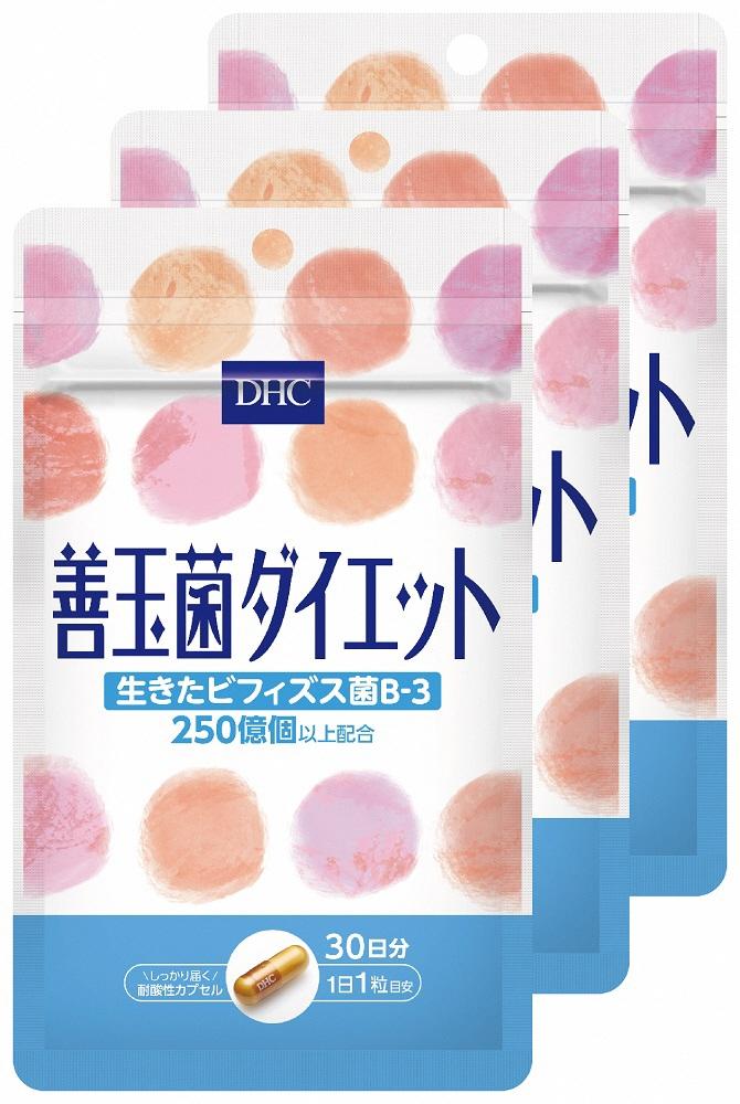 【ふるさと納税】DHC サプリメント 善玉菌ダイエット 30日分 3ヶ月分セット