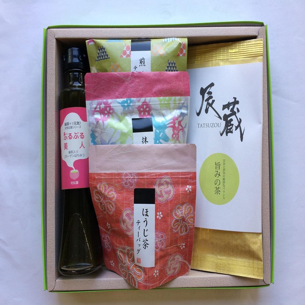 【ふるさと納税】1026辰蔵(TATUZOU)「旨みの茶」+はちみつ緑茶ジンジャーシロップの詰め合わせ