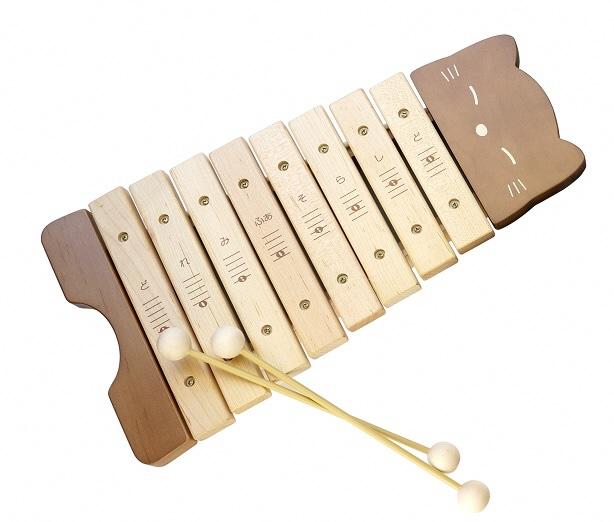 純国産と安全性にこだわった1オクターブの木琴です ふるさと納税 新着 高品質 カワイねこのもっきん 9062